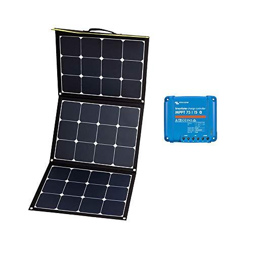 WATTSTUNDE Sunfolder faltbare Solartasche - Mobiles 12V Outdoor Solarpanel mit Victron 75/15 SmartSolar MPPT Laderegler (120W 75/15 MPPT) 120w Solarpanel