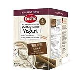EasiYo Indulgence 4er-Pack Joghurtmischung nach griechischer Art mit Kokosstückchen