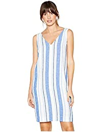 701403027e08 Principles Womens Blue Stripe Print Knee Length Linen Dress 8