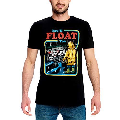 ren T-Shirt You'll Float Too Comic Pennywise Georgie Baumwolle schwarz - L ()