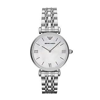 Emporio Armani – Reloj de Cuarzo para Mujer, Correa de Acero Inoxidable