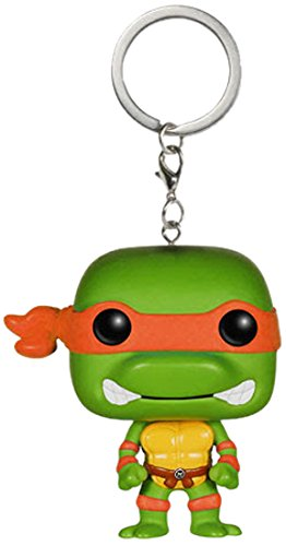 Funko 4577 Teenage Mutant Ninja Turtles Schlüsselanhänger Figur TMNT: Michelangelo, unisex-child - Ninja Michelangelo Turtle