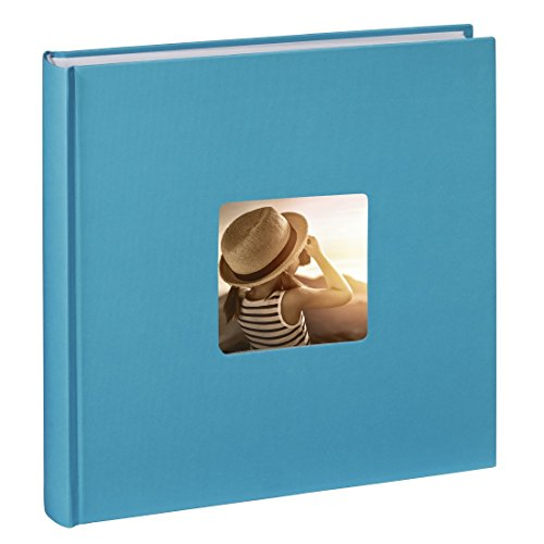 Hama Fine Art Jumbo - Álbum de fotos (30 x 30cm, 100 páginas, 50 hojas, con compartimento para insertar foto), azul claro