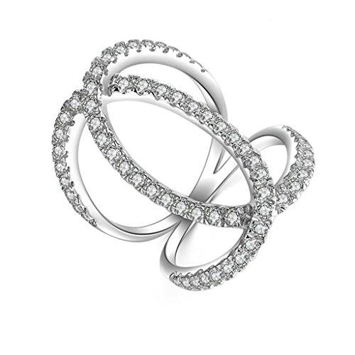 Anyeda Ring Damen Modeschmuck 925 Ringe Schmetterling Cz Silber-Graviert Ringgröße 57 (18.1) - Aventurin Ringe Männer Für