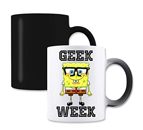 Spongebob Geek Week Graphic Magische Farbe die Tee-Kaffeetasse ändert