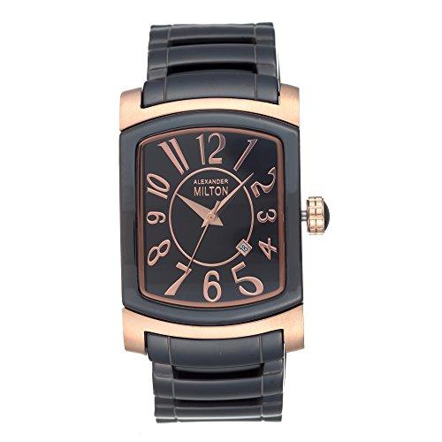 ALEXANDER MILTON - montre homme - PAXOS, noir/dore rose