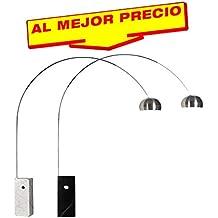 LÁMPARA DE PIE EN ARCO MODELO EXCLUSIVE VANGUARD , LÁMPARA DE SUELO,BASE MÁRMOL, ESTILO MODERNO, LAMPARA DE PIE PARA SALÓN O COMEDOR-OFERTAS ILUMINACIÓN- DISPONIBLE EN VARIOS ACABADOS … (Mármol Negro)