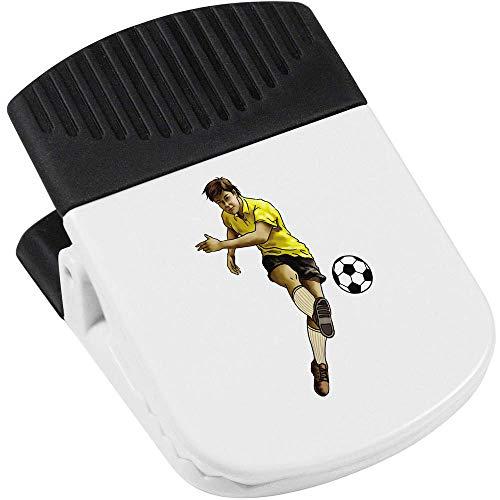 Azeeda 'Fußballspieler' Magnetischer Clip (CP00018275)