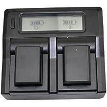 jiexi® LCD-Display Mains Charger + 2x 7.4V 1080mAh batería NP-FW50FW50para Sony A6000A5000NEX-5R NEX-5N NEX-5NEX-3N NEX-3NEX-7NEX-C3DLSR A33DLSR A55Alpha A7A7R RX10A7S A7II A7R II a7S II RX10II cámara Digital