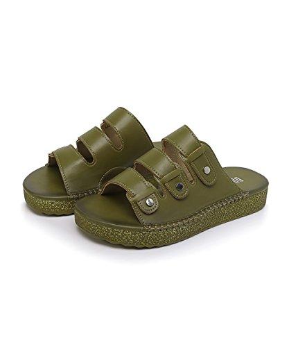 CHAOXIANG Pantofole Da Donna Antiscivolo Con tacco Ciabatte Piatte Sandali Da Surf Nuova Estate Ciabatte Spiaggia ( Colore : Verde , dimensioni : EU35.5/UK4/CN36 ) Verde