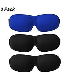 Generic Sleep Mask Lightweight Sleeping Mask Adjustable 3D Sleep Eye Mask For Travel Shift Work Naps 3 Pack