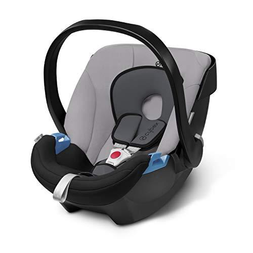 Cybex Silver - Portabebé Aton, en contra de la marcha, incluye reductor para recién nacido, desde el nacimiento hasta aprox. 18 meses, max. 13 kg, gra
