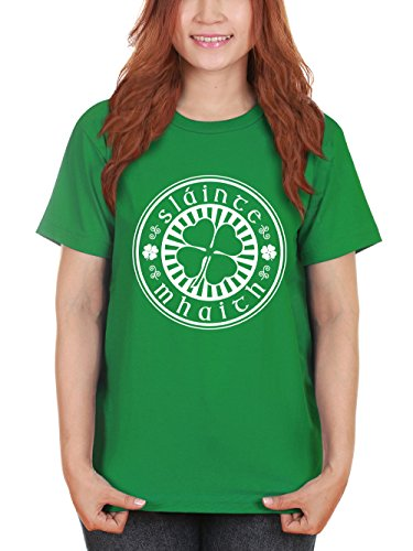clothinx Damen T-Shirt Sláinte Mhaith St Patricks Day Kelly Green