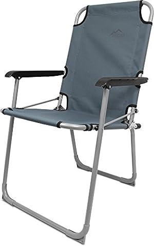Ultraleicher Aluminium Klappstuhl Campingstuhl Angelstuhl bis 120 kg Belastbarkeit Farbe Grau
