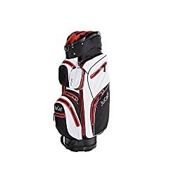 JuCad Golf Bag Aquastop wasserdicht Golfbag Farbe: schwarz-weiß-rot