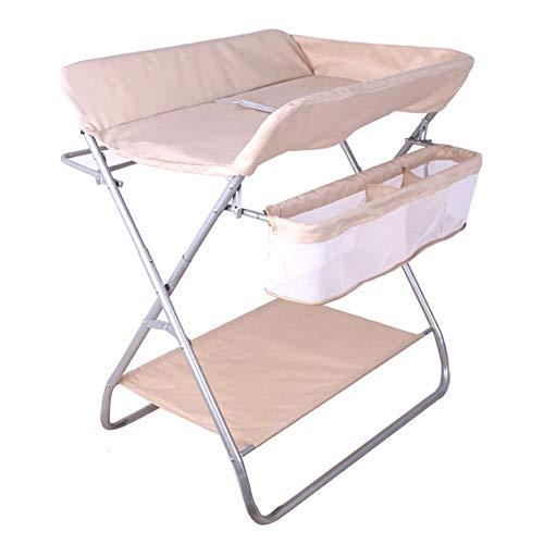 Table à Langer Commode À Couches pour Bébés/Enfants, Organisateur De Pliable pour Bébé, Style Jambes Croisées (Kaki)