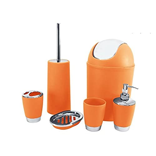 orange and grey bathroom accessories. Bathroom Accessories Orange  Amazon Co Uk