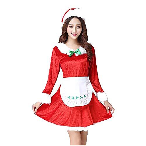 Santa Anzug Erwachsene Cosplay Sexy Luxus Plüsch Dance Nightclub Party Kostüm Leistung Kleidung Für Weihnachten/Karneval Halloween - Weihnachten Elf Dance Kostüm