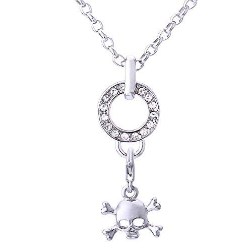 Morella Edelstahl Charm Halskette 70 cm und Charm -