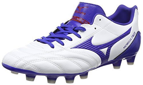 Mizuno Morelia Neo Ut Md, Chaussures de Rugby homme Blanc - White (White/Surf the Web/Chinese Red)