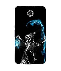 FUSON Designer Back Case Cover for Motorola Nexus 6 :: Motorola Nexus X :: Motorola Moto X Pro :: Google Nexus 6 (Beauty Is Art Frame Love Paints Cool Abstract)
