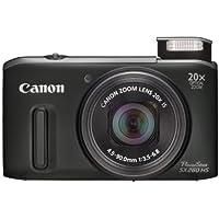 Canon Powershot SX260 HS Digital Camera - Black (12.1 MP, 20x Optical Zoom) 3.0 Inch LCD
