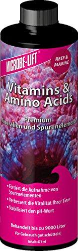 MICROBE-LIFT Vitamins & Amino Acids - Vitamine, Aminosäuren, Meerwasser, Aquarium - 473 ml