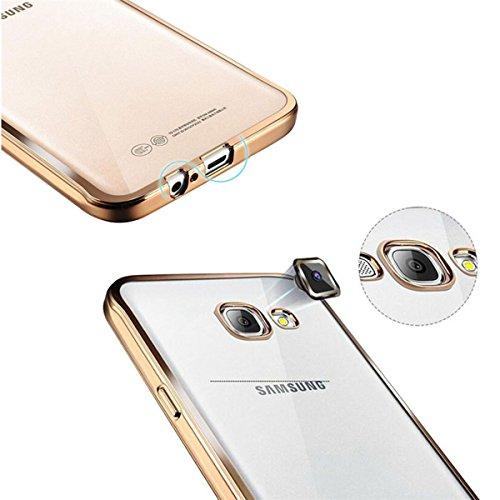 DELUXE Silikon Apple iPhone 5 5s / SE + Panzerglasfolie Rundum Schutz Hülle Schale Tasche Case PANZERGLASFOLIE (iPhone 5 5s / SE, Rose Gold) PLatin
