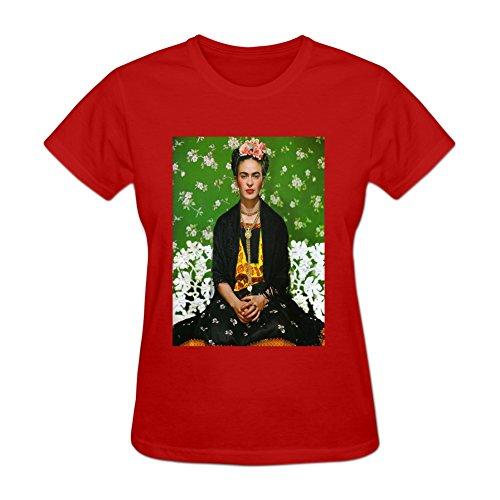 Golden dosa Women's Short Sleeve Frida Kahlo Cotton O Neck T Shirt
