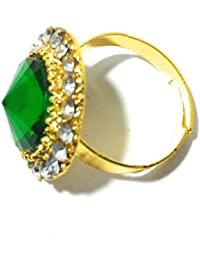 Diva Traditional & Ethnic Gold Plated Finger Ring For Women (Adjustable)