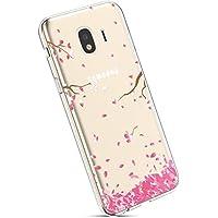 YSIMEE para Fundas Samsung Galaxy J2 Pro 2018,Transparente Silicona Suave Ultra Fina Delgado Gel Bumper TPU Goma Estuches Protectora Carcasas para Samsung Galaxy J2 Pro 2018 -Flor