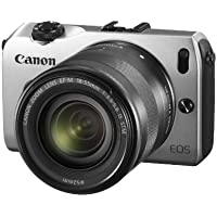 Canon EOS M Compact System Camera - Silver (18MP, Includes Speedlite 90EX and EF-M 18-55mm f/3.5-5.6 IS STM) 3.0 inch Touchscreen