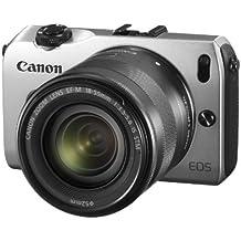 Canon EOS M Fotocamera con Obiettivo EF-M 18-55 mm IS STM e Flash Speedlite 90EX, Argento