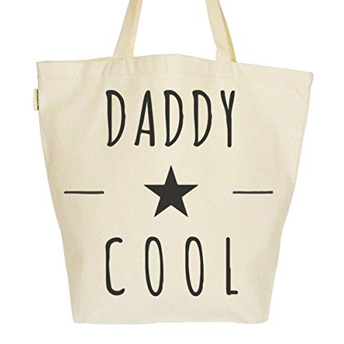 Grand Sac Cabas Fourre-tout Imprimé Toile Bio 37x45x20cm Tote Bag XL - Daddy Cool