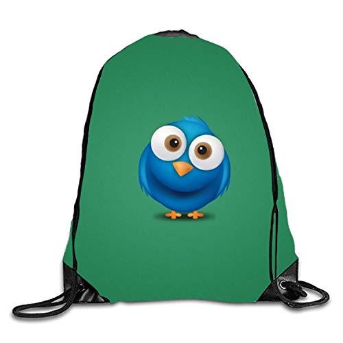 ucksäcke, Cinch Sack Twitter Bird Drawstring Backpack String Sinch Tote Nap Bag for Kids Gym Twitter Bird 7 Lightweight Unique 17x14 IN ()