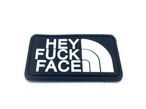 Preisvergleich Produktbild Klettband Aufnäher Hey Fuck Face PVC Airsoft Schwarz