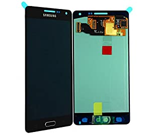 Original Samsung Galaxy A5 (2015) A500F A500 AMOLED LCD Display Touchscreen Digitizer Glas Service Ersatzteil Einheit mit Home Button + Klebestreifen Schwarz OCTA GH97-16679B