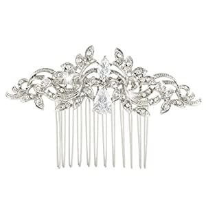 EVER FAITH® CZ österreichischen Kristall kunstvolles Vintage Style Muster Hochzeit Haarkamm Haarschmuck