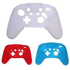 Demiawaking Neue Silikon Gummi Weiche Hüllen Abdeckung Schutzhülle für Nintendo Schalter NS Switch Pro Controller