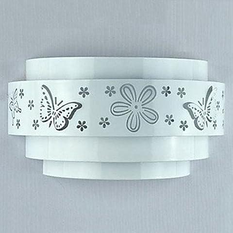 artes claras Minimalista Moderno mariposa patrón de flor Luces de pared de la manera