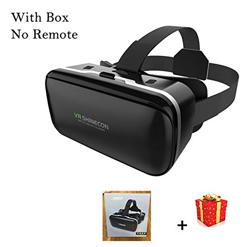 IN THE DISTANCE Brille-Kopfhörer-Sturzhelm VR 6.0 Casque Virtual Reality Glasses 3 D 3D Für Smartphone-Smartphone-Pappe (Color : with Box No Remote)