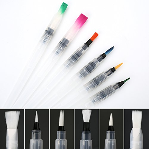 COBEE 6pcs Pinselstifte Aquarelles Pinselset Zeichnen Stifte Malset Brush Pen Set für Malen...