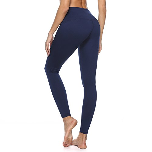 f549f1a38454 Women's Yoga Pants with High Waist Tummy Control Gym Trousers and Pocket  inside for Workout Running Stretching Yoga Leggings