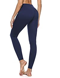 1390ecd5a97 Women s Yoga Pants with High Waist Tummy Control Gym Trousers and Pocket  inside for Workout Running