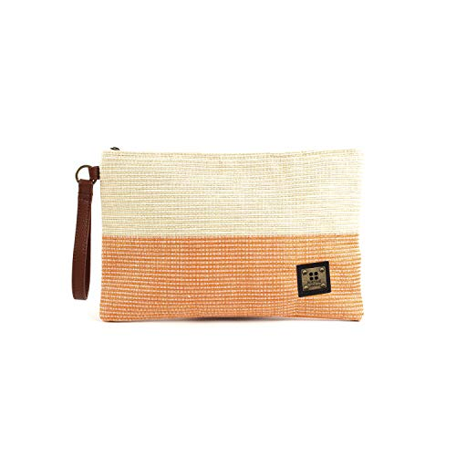 For Time Bandas Nature, Bolso de mano con correa Tricolor para Mujer, Naranja, 30x19 cm