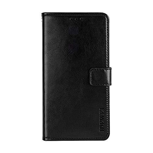 BELLA BEAR Case für Umidigi One Max,Leder Brieftasche Geldbörse Halterung Funktion Weichem PU Material Phone Case Cover for Umidigi One Max Hülle(Schwarz)