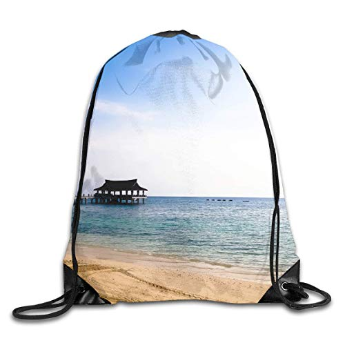 HLKPE Beautiful Beach Drawstring Bag for Traveling Or Shopping Casual Daypacks School Bags