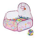 WYJW - Box Hexagon per Bambini, con Palline, griglia di Sicurezza con Cestino, Pieghevole, Anti-rotolamento, 47 Scomparti, 28 Pollici