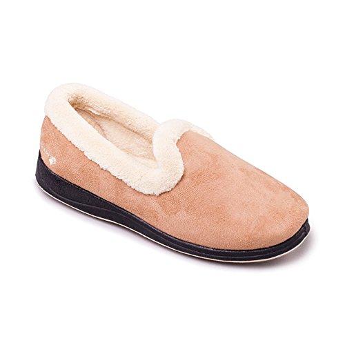 Padders scarpe donne scarpe 'Repose' | scarpe confontables | Extra grande larghezza di EE | 30 millimetri tallone | calzascarpe libero Talpa / Cammello