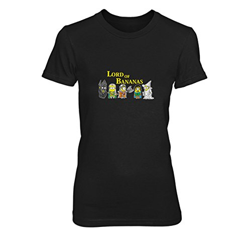 Lord of Bananas - Damen T-Shirt, Größe: L, Farbe: schwarz (Despicable Me Kostüm Frauen)